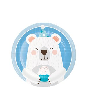 Birthday Bear Lunch Plates  - 8 pack