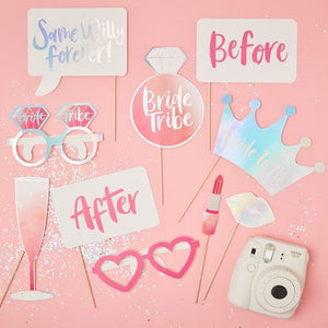 Hen Party Photo Booth Props - Bride Tribe Range by Ginger Ray