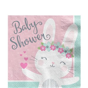 Bunny Baby Shower Napkins  - 16 Pk