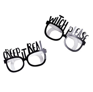 Black Foiled Fun Glasses - Creep It Real