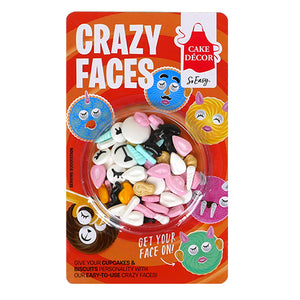 Cake Décor Crazy Face Toppers