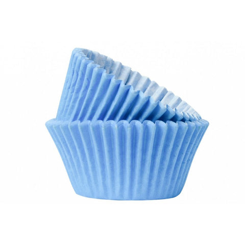 Sky Blue Baking Cases - Pack of 50