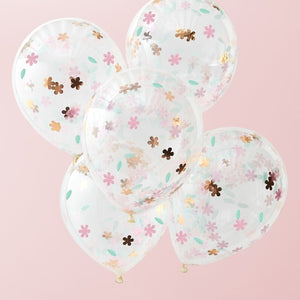 Ginger Ray Floral Confetti Balloons - Ditsy Floral