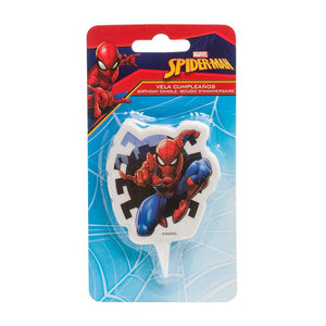 Spider Man Birthday Cake Candle