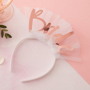 Bride To Be Headband Veil - Floral Hen Range by Ginger Ray