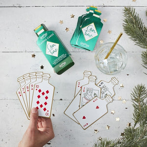 Gin Shaped Playing Cards Gift - Ginger Games  - Ginger Ray