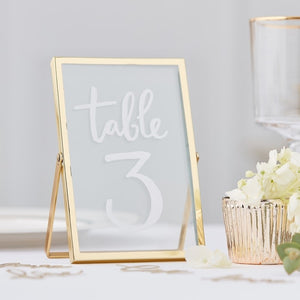 Gold Photo Freestanding Frame - Gold Wedding Range by Ginger Ray