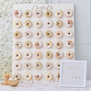 Large Donut Wall - Gold Wedding Range by Ginger Ray