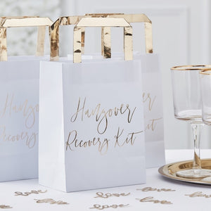 Gold Hangover Recovery Kit Bags - Gold Wedding Range by Ginger Ray