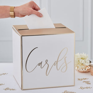 Card Holder Wedding Post Box - Gold Wedding Range by Ginger Ray