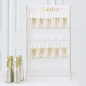 Prosecco Bubbly Drinks Wall Holder - Gold Wedding Range by Ginger Ray