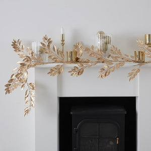 Gold Foliage Christmas Garland - Gold Glitter - Ginger Ray