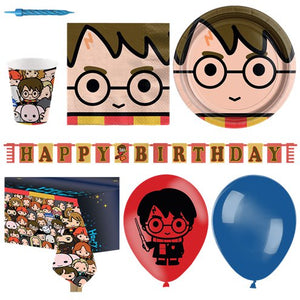 Harry Potter Party Tableware Supplies Plates Cups Napkins Balloon Party Pack for 16