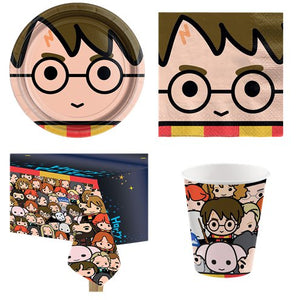 Harry Potter Party Supplies Party Pack Plates Cups Tablecover Napkins - 8 Guests