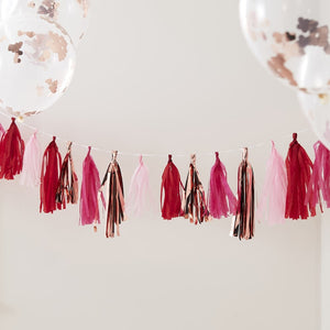 Rose Gold and Mixed Pink Tassel Bunting - Hey Good Looking  - Ginger Ray