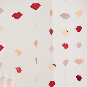 Rose Gold and Red Foiled Lip Backdrop - Hey Good Looking  - Ginger Ray