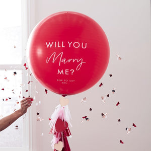 "'Will You Marry Me' 36"" Balloon Kit - Hey Good Looking - Ginger Ray"