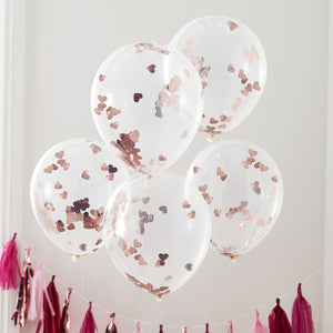 Rose Gold Foiled Confetti Balloons - Hey Good Looking - Ginger Ray