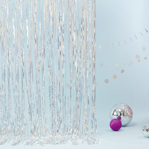 Holographic Fringe Curtain - Jolly Vibes