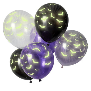 Let's Get Batty Balloons - Glow in the Dark Halloween Balloons - Ginger Ray