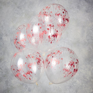 Blood Print Halloween Balloons - Let's Get Batty - Ginger Ray