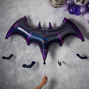 Black Bat Foil Halloween Balloon  - Let's Get Batty - GINGER RAY