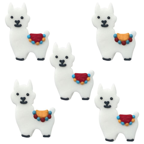 Edible Sugar Llamas - 5 Pack