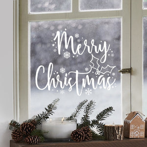 Merry Christmas Window Sticker - Let It Snow - Ginger Ray