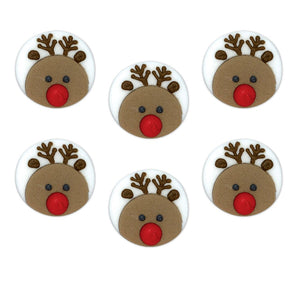 Round Reindeer Face Sugarcraft Cake Toppers
