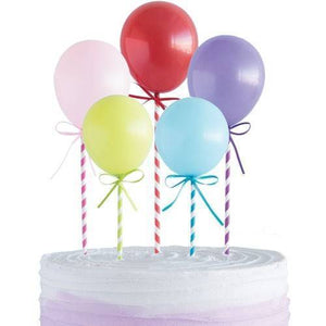 Mini Balloons  Cake Topper Kit - 5 Pack