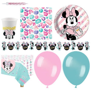 Minnie Mouse Party Gem Party Pack - Deluxe Pack for 16 Guests