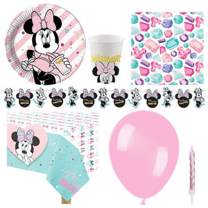 Minnie Mouse Party Gem Party Pack - Deluxe Pack for 8 Guests