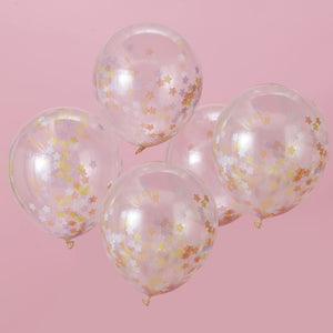 Star Confetti Balloons - Make A Wish Unicorn Range by Ginger Ray
