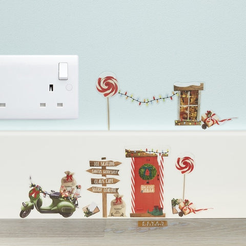 Elf Wall Stickers - Novelty Christmas