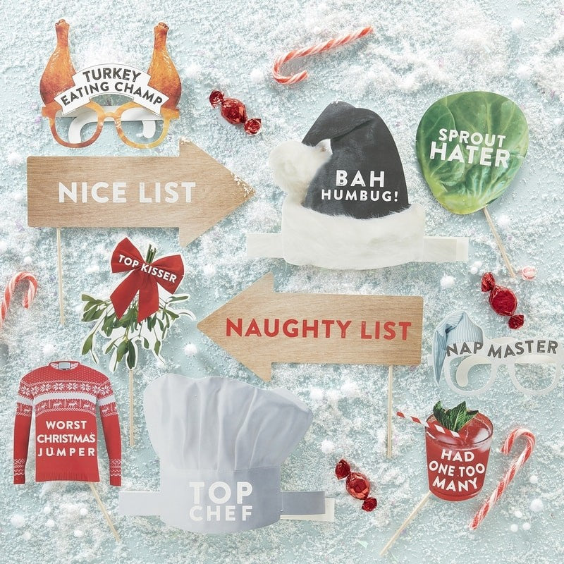 Christmas Photo Booth Kit - Novelty Christmas
