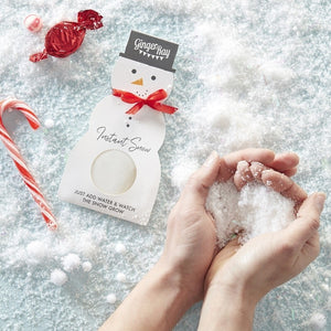 Snowman Shape Instant Snow - Novelty Christmas
