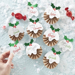 Novelty Christmas Day Badges Kit - Novelty Christmas
