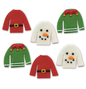 Christmas Jumper Cake Toppers - Pack of 6