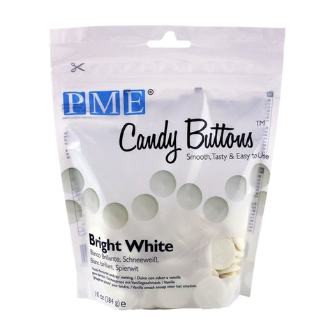 PME Candy Buttons - Bright White 340g