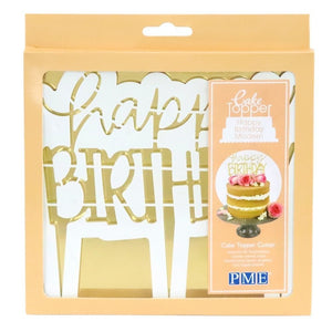 PME 'Happy Birthday' Modern Cake Topper Cutter