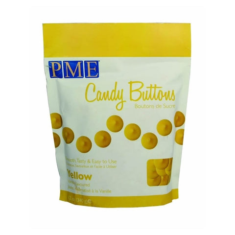 PME Candy Buttons - Yellow 340g