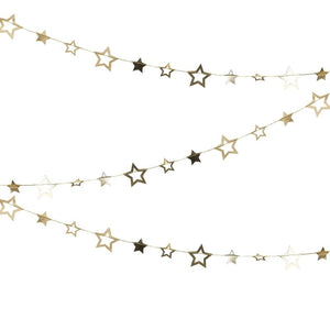 Gold Foiled Star Hanging Garland Decoration - Pop The Bubbly - Ginger Ray