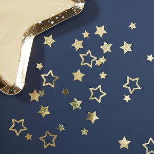 Gold Foiled Star Shaped Table Confetti - Pop The Bubbly - Ginger Ray