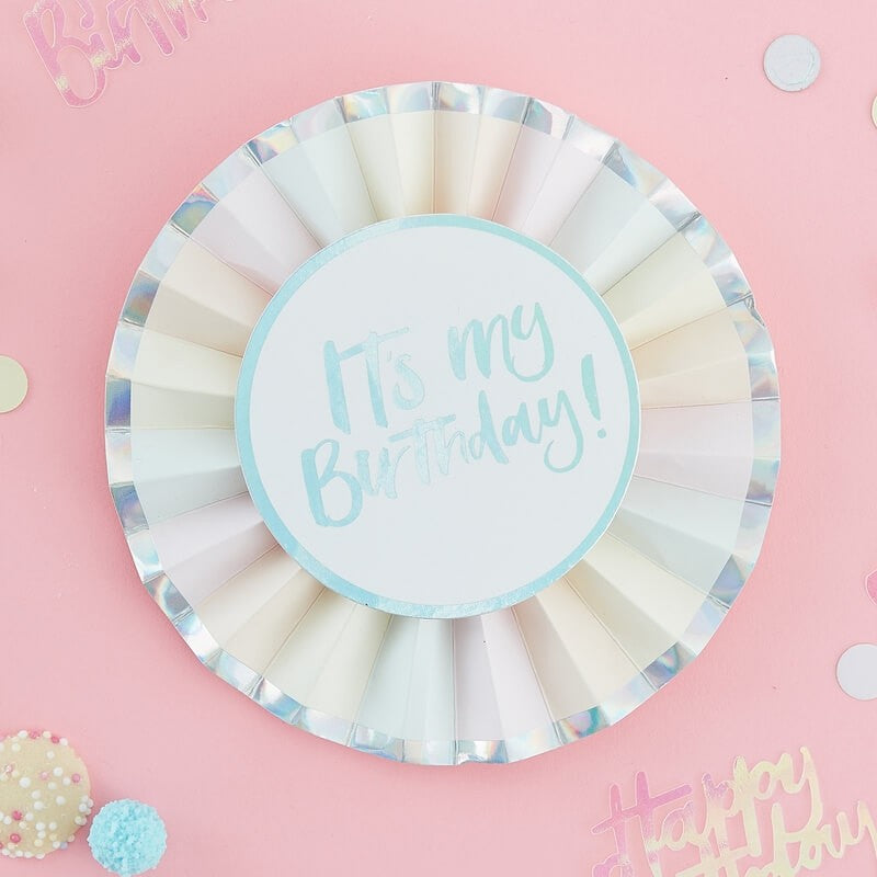 Ginger Ray Birthday Cake Paper Napkins Pastel Party Range by