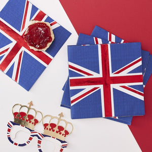 Union Jack Paper Napkins - Party Like Royalty - Ginger Ray