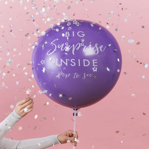 Surprise Gift Reveal Balloon - Stargazer - Ginger Ray