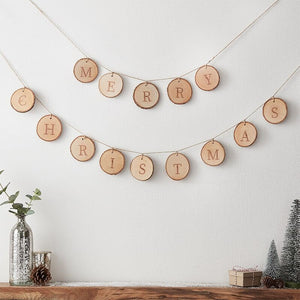Merry Christmas Wooden Bunting - Ginger Ray
