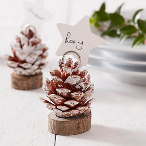 Pine Cone Christmas Place Cards Holders