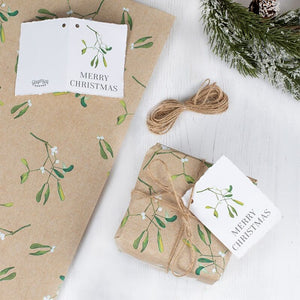 Christmas Wrapping Paper With Twine and Tag - Ginger Ray