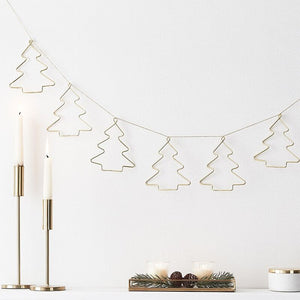 Christmas Gold Contemporary Bunting - Ginger Ray